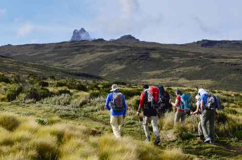 Trek en direction de Shipton's Camp, Mont Kenya - Kenya -