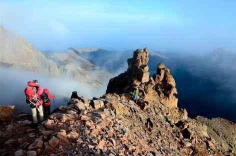 Sous la Pointe Lenana, descente par la voie Chogoria, Mont Kenya - Kenya -