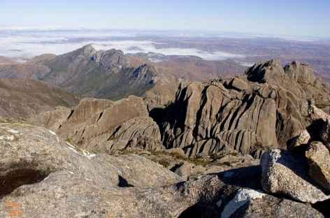 Massif de l'Andringitra, vue du sommet du Pic Boby - Madagascar -