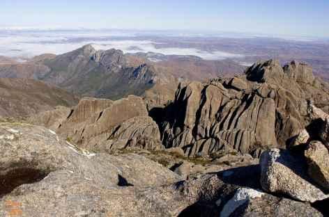 Massif de l'Andringitra, vue du sommet du Pic Boby - Madgascar -