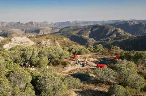 Notre campement dans le massif de l'Isalo - Madagascar -