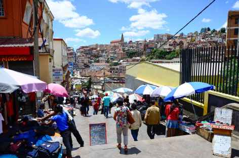 Centre-ville d'Antananarivo, capitale de Madagascar -