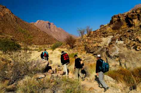 Marche en direction de White Lady - Namibie -