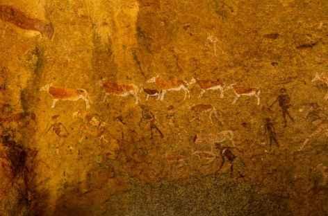Peintures rupestres de White Lady, massif du Brandberg -