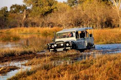 Traversée de gués dans la réserve de Moremi - Botswana -