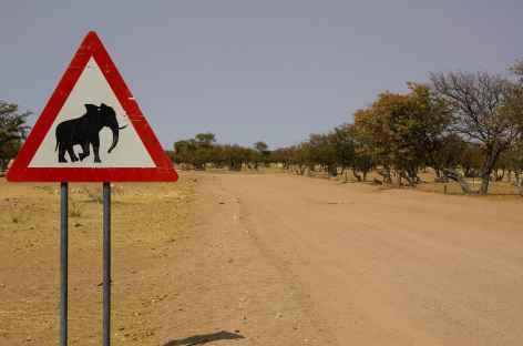 Sur la piste vers Etosha - Namibie -