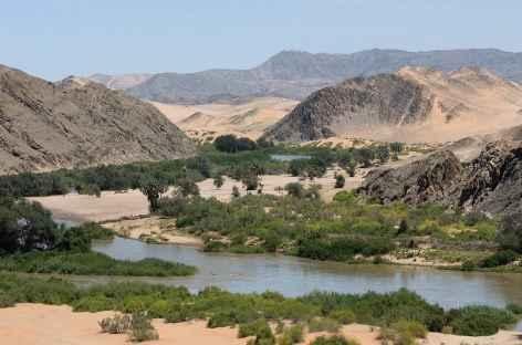 Vallée de Hartmann, fleuve Kunene, Kaokoland - Namibie -