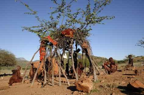 Village himba, Kaokoland - Namibie -