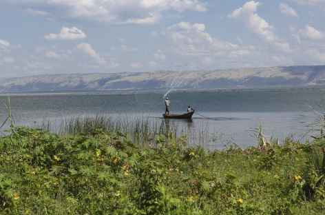 Pêcheur sur le lac Albert - Ouganda -