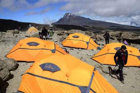Notre camp à Barafu (4600 m), demain le sommet du Kilimanjaro ! - Tanzanie -