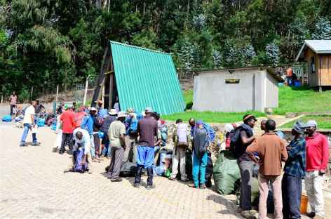 Pesée des sacs, Kilimanjaro - Tanzanie -