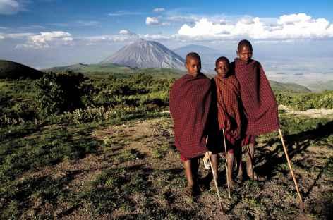 Région masaï, entre le Ngorongoro et le volcan Lengai - Tanzanie -