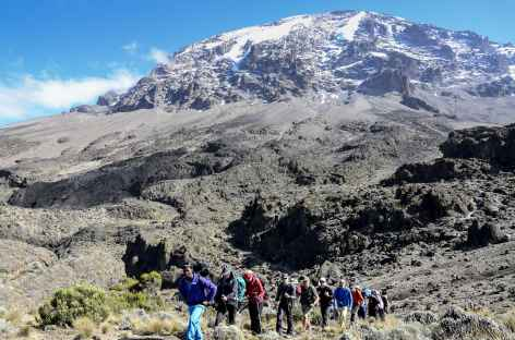 Etape entre Baranco et Barafu, Kilimanjaro - Tanzanie -