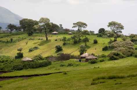 Village masai de Nyobi, région du Lengai - Tanzanie -