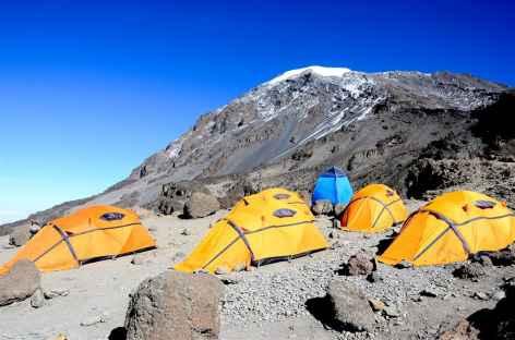Notre campement à Barafu (4600 m), Kilimandjaro - Tanzanie -