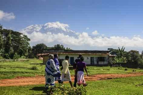 Vue sur le Kilimanjaro depuis le village de Machame - Tanzanie -