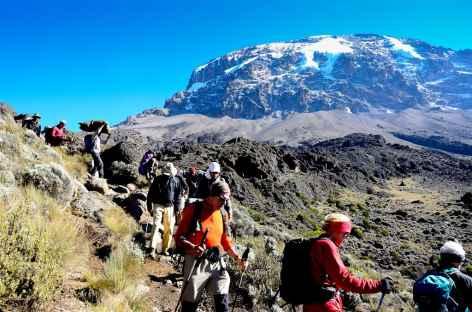Etape entre Barranco et Barafu, Kilimandjaro - Tanzanie -