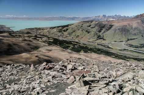 Parc national des Glaciers, vue sur le lac Viedma depuis le Pliegue Tumbado - Argentine -