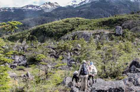 Marche vers le lac Fiero - Chili -