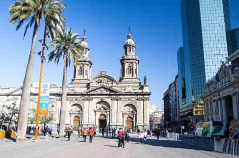 Santiago, la cathédrale et la place d'Armes - Chili -