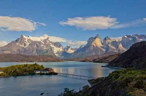 Torres del Paine, l'hosteria et le lac Pehoe - Chili -