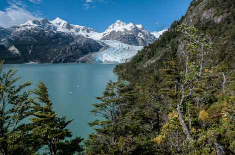 Le lac et le glacier Leones - Chili -