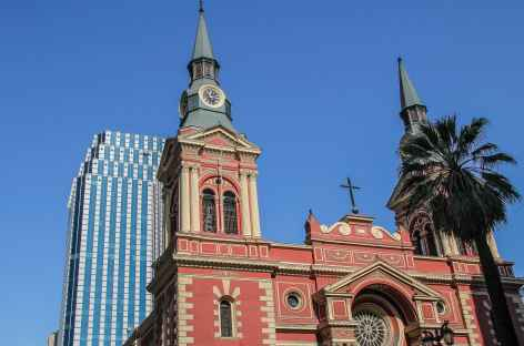 Santiago, constraste d'architecture - Chili -