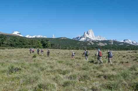 Parc national des Glaciers, marche vers le Pliegue Tumbado - Argentine -