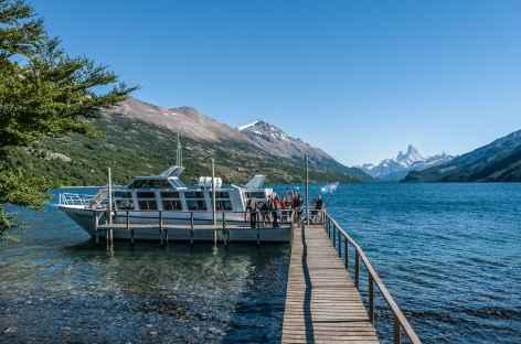 Embarquement pour la traversée du lac del Desierto - Chili -