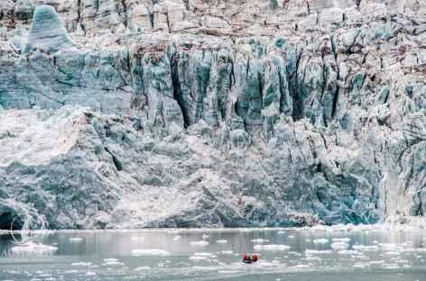 Sortie en zodiac pour approcher les glaciers -