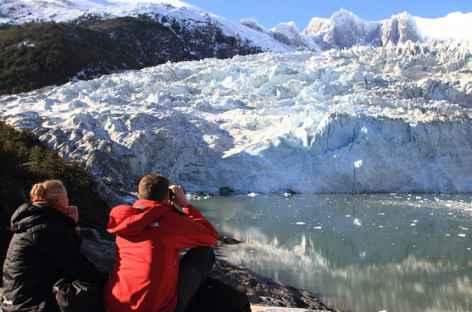 Observation du glacier Marinelli dans la Baie Ainsworth - Chili -