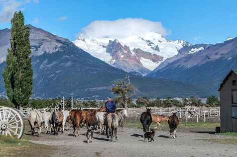 Les installations de l'estancia Nibepo Aike - Chili -