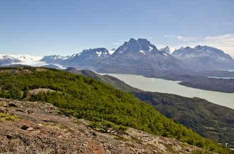 Vue sur le lac Grey depuis le mirador Ferrier - Chili -
