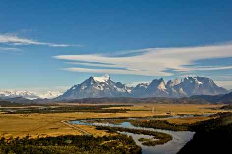 Vue depuis notre hôtel à Torres del Paine - Chili -