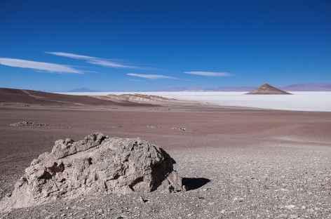 Le salar d'Arizaro et le cône d'Arita - Argentine -