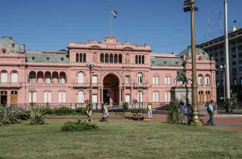 Buenos Aires, place du 9 mai et 'casa rosada' - Argentine -