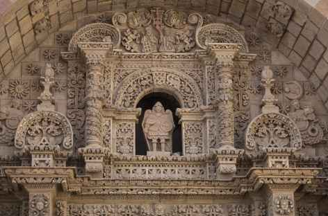 Fronton de l'église Jésuite de Potosi - Bolivie -