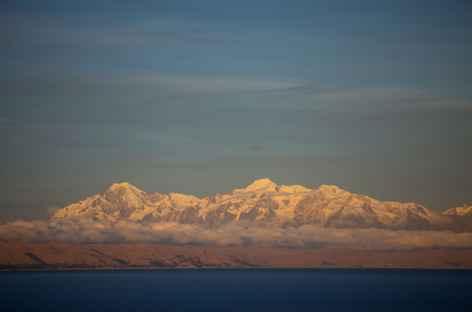 Cordillère depuis île -  Bolivie -