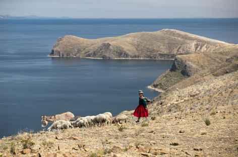Rencontre avec une bergère - Bolivie -