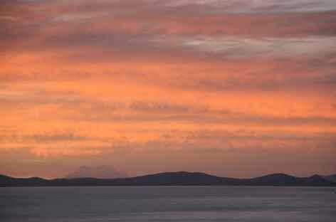 Coucher de soleil sur le lac Titicaca - Bolivie -