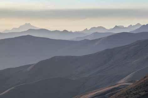 Jeu de lumières depuis le camp de base de l'Illimani - Bolivie -