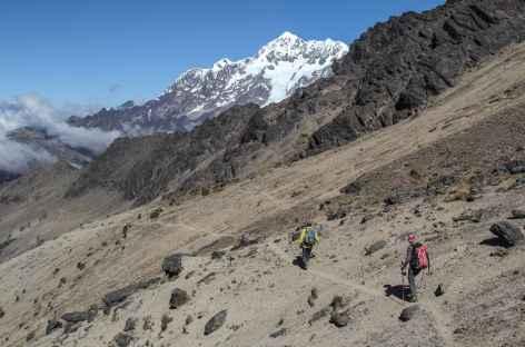 Vue sur l'Illimani en chemin vers le Mururata - Bolivie -