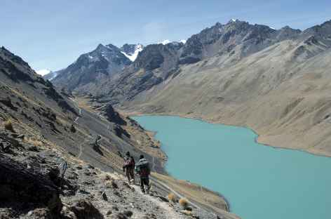 Cordillère Royale, descente vers la laguna San Francisco - Bolivie -