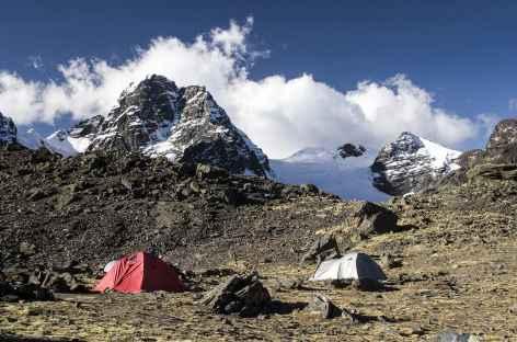 Cordillère Royale, camp au pied du Condoriri - Bolivie -