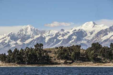Vue sur la Cordillère Royale depuis le lac Titicaca - Bolivie -