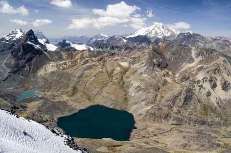 Cordillère Royale, vue depuis le sommet du pic Austria - Bolivie -