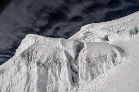 Cordillère Royale, glacier du Huayna Potosi - Bolivie -