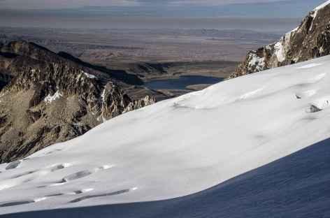 Cordillère Royale, vue sur La Paz depuis le pic Tarija - Bolivie -