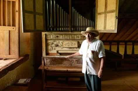 Le petit orgue de 1750 dans l'église de Santa Ana - Bolivie -