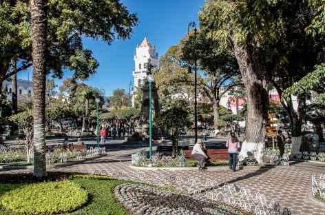 Sur la place d'Armes de Sucre - Bolivie -